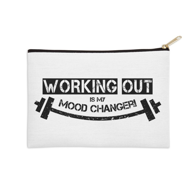 Mood Changer! (Black) Accessories Zip Pouch by WaWaTees Shop