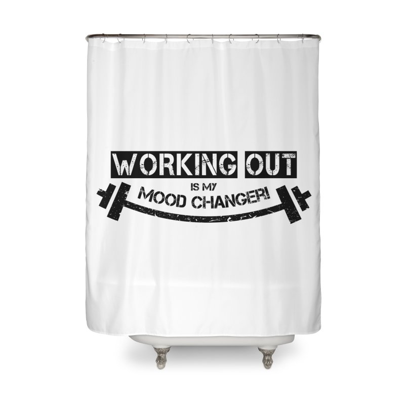 Mood Changer! (Black) Home Shower Curtain by WaWaTees Shop