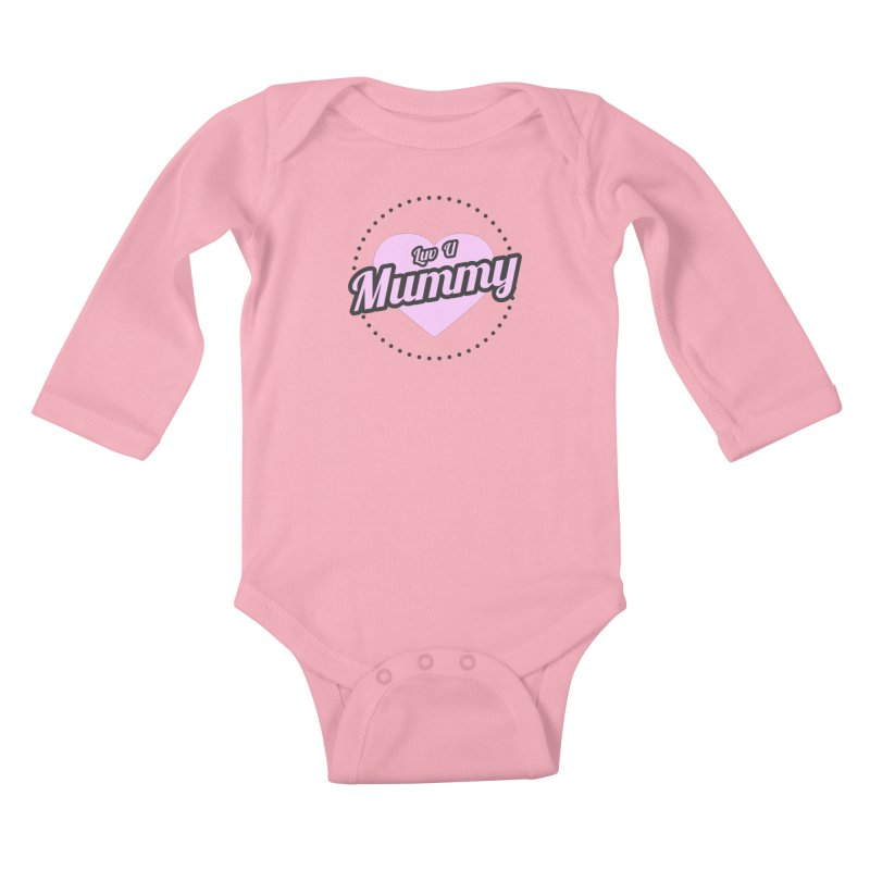 Luv U Mummy Kids Baby Longsleeve Bodysuit by WaWaTees Shop