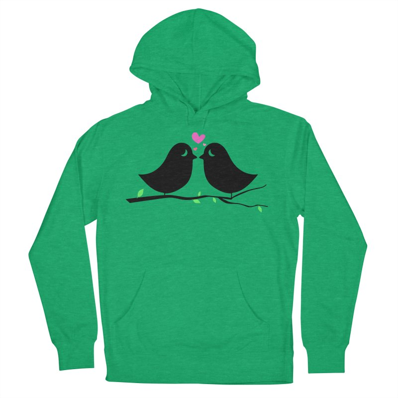 Love Birds Men's French Terry Pullover Hoody by WaWaTees Shop