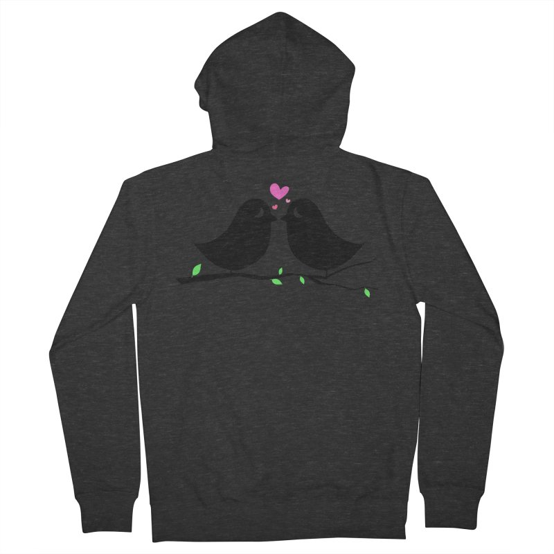 Love Birds Men's French Terry Zip-Up Hoody by WaWaTees Shop