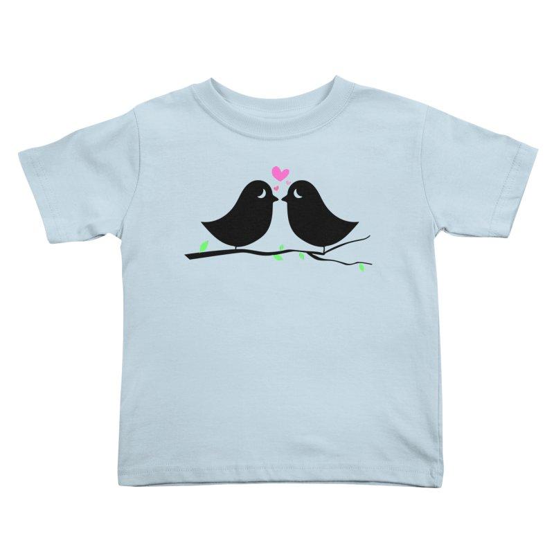 Love Birds Kids Toddler T-Shirt by WaWaTees Shop