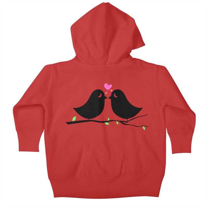 Love Birds Kids Baby Zip-Up Hoody by WaWaTees Shop