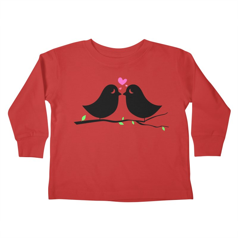 Love Birds Kids Toddler Longsleeve T-Shirt by WaWaTees Shop