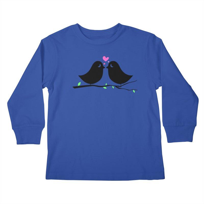 Love Birds Kids Longsleeve T-Shirt by WaWaTees Shop