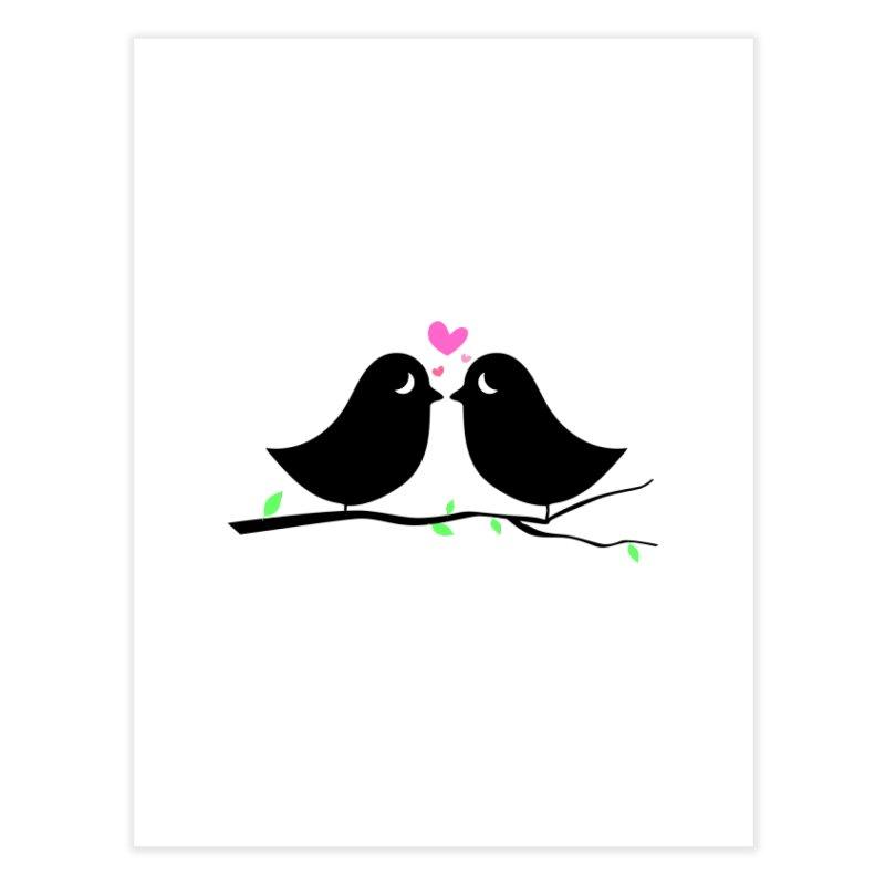 Love Birds Home Fine Art Print by WaWaTees Shop