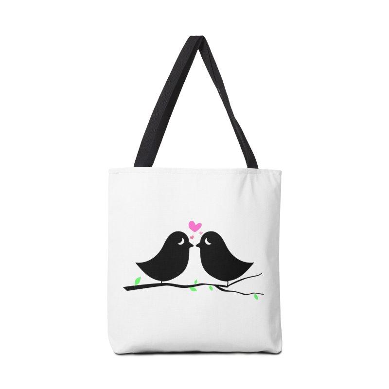 Love Birds Accessories Bag by WaWaTees Shop