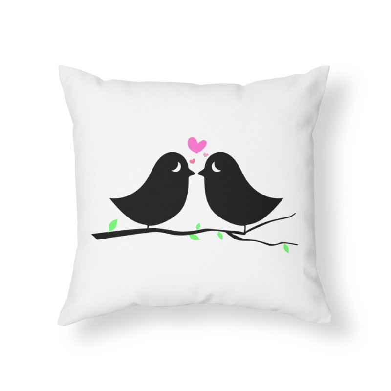 Love Birds Home Throw Pillow by WaWaTees Shop