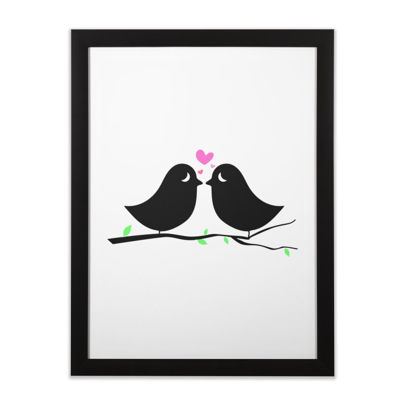 Love Birds Home Framed Fine Art Print by WaWaTees Shop