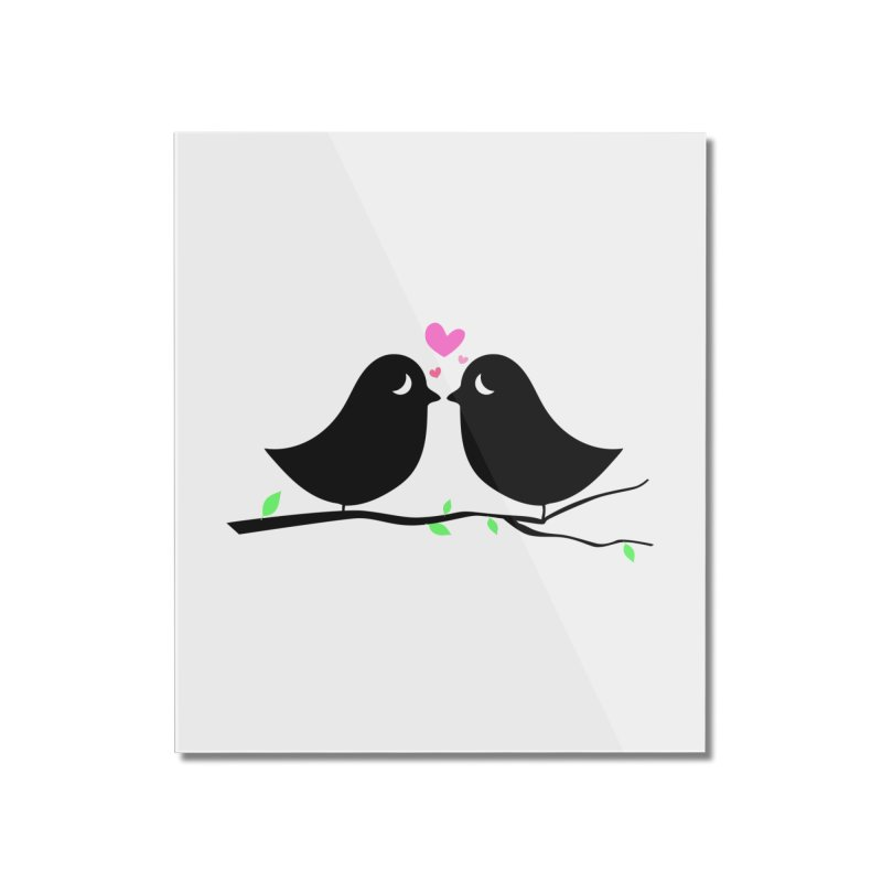 Love Birds Home Mounted Acrylic Print by WaWaTees Shop