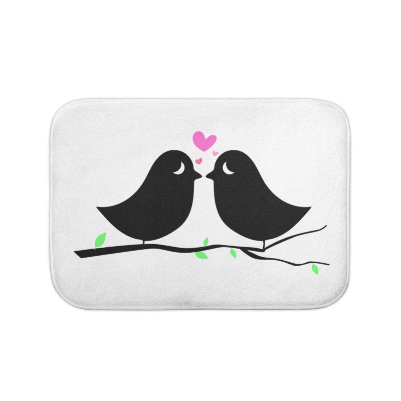 Love Birds Home Bath Mat by WaWaTees Shop