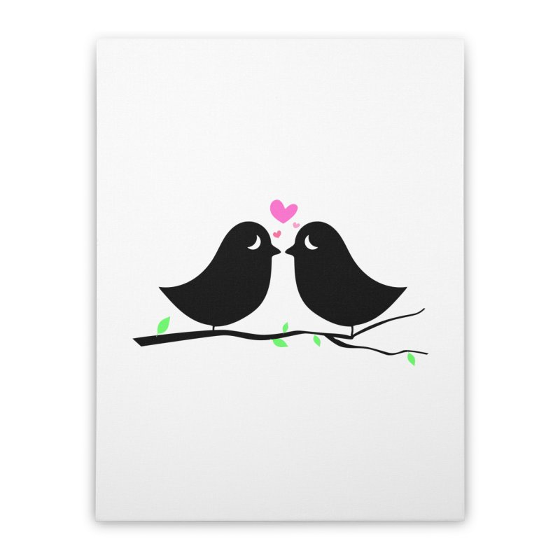 Love Birds Home Stretched Canvas by WaWaTees Shop