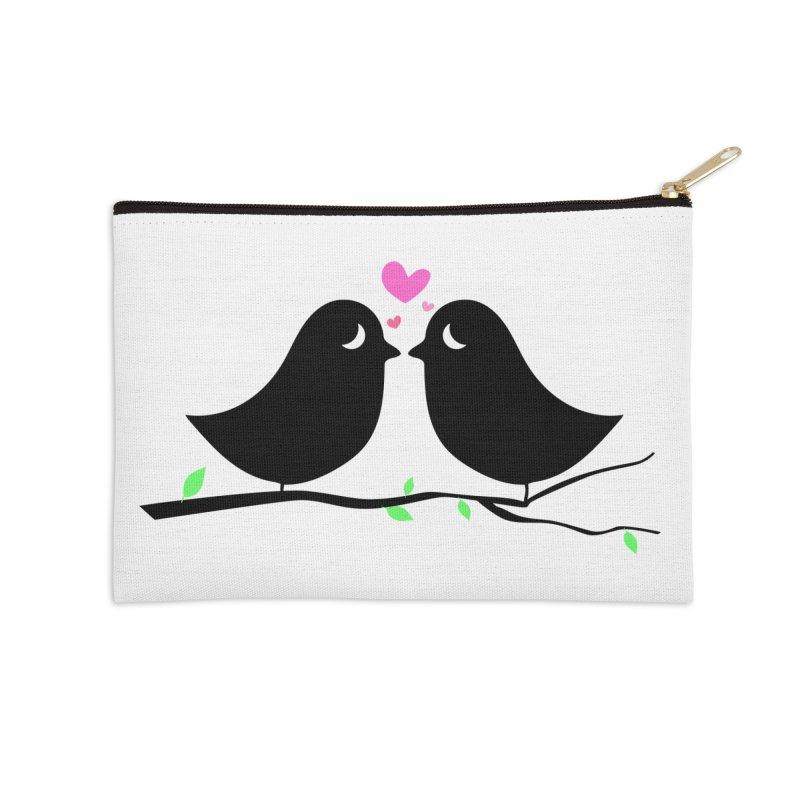 Love Birds Accessories Zip Pouch by WaWaTees Shop