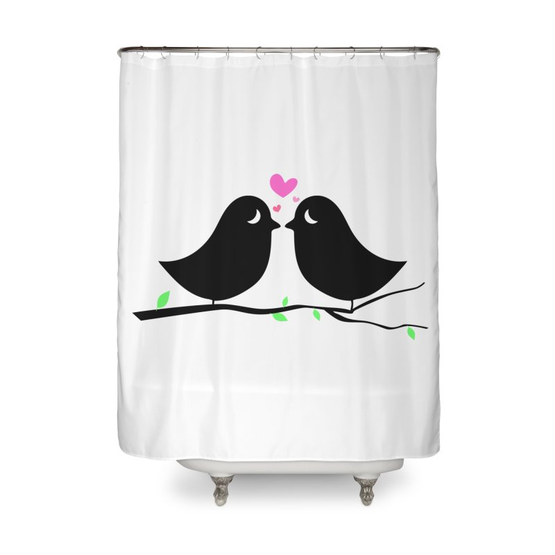 Love Birds Home Shower Curtain by WaWaTees Shop