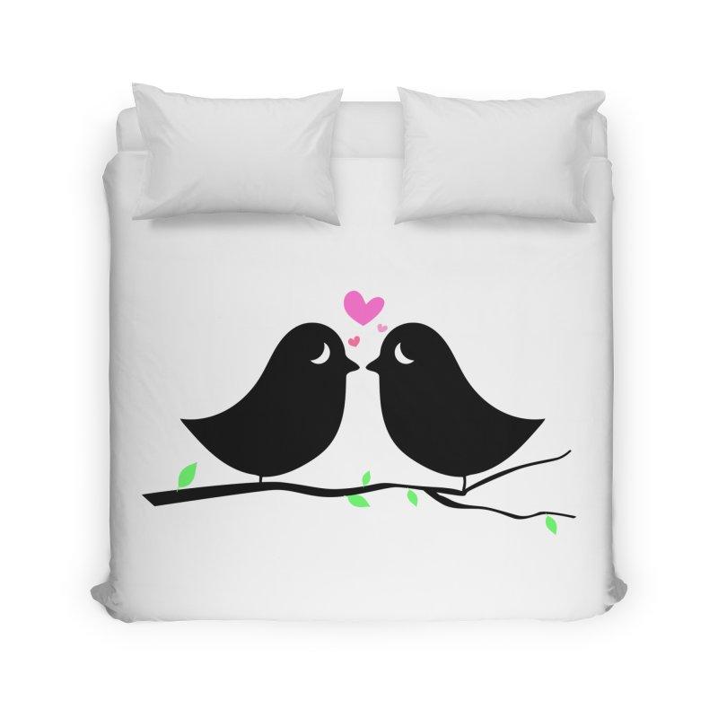 Love Birds Home Duvet by WaWaTees Shop