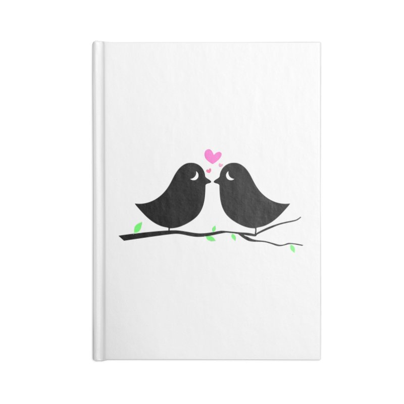 Love Birds Accessories Notebook by WaWaTees Shop