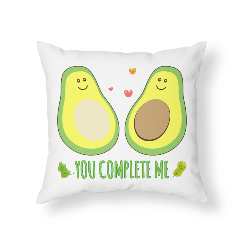 You Complete Me Home Throw Pillow by WaWaTees Shop