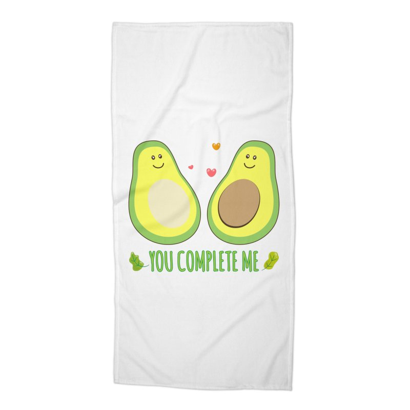 You Complete Me Accessories Beach Towel by WaWaTees Shop
