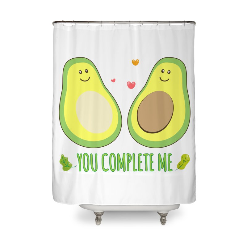 You Complete Me Home Shower Curtain by WaWaTees Shop