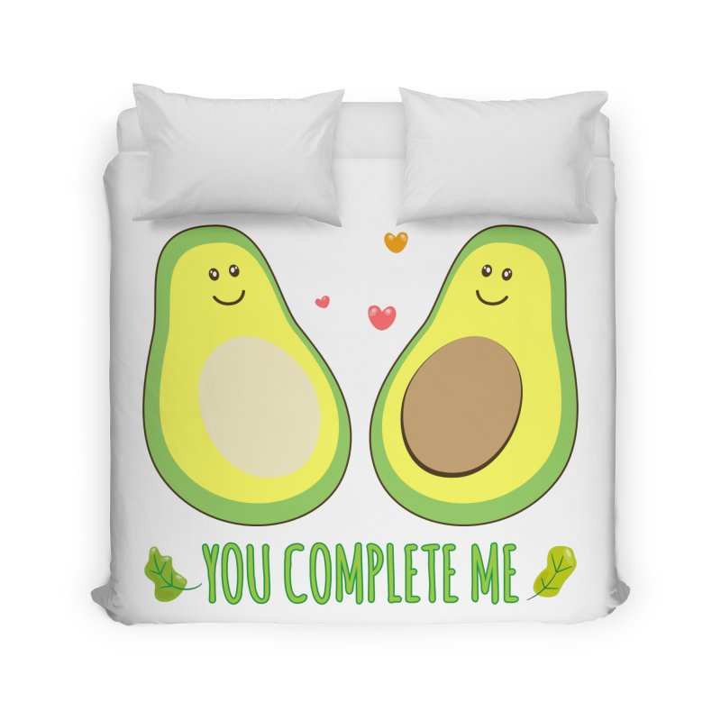 You Complete Me Home Duvet by WaWaTees Shop