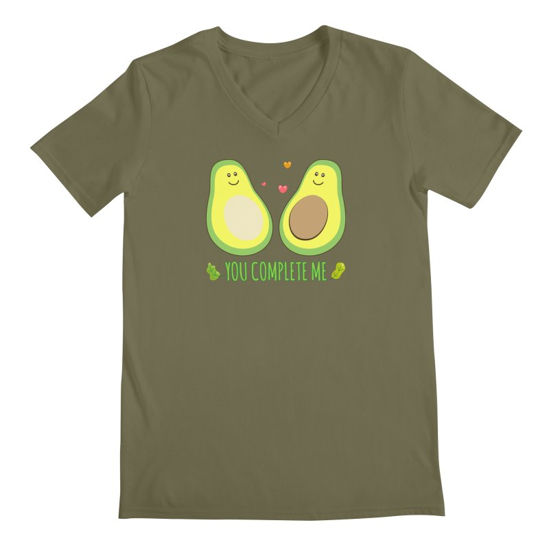 You Complete Me Men's V-Neck by WaWaTees Shop