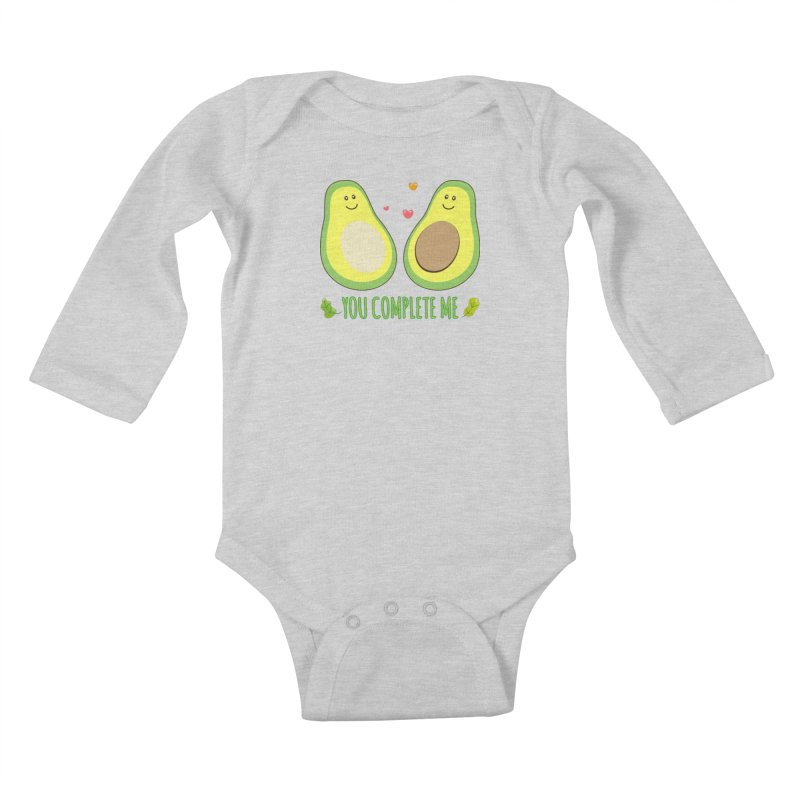You Complete Me Kids Baby Longsleeve Bodysuit by WaWaTees Shop