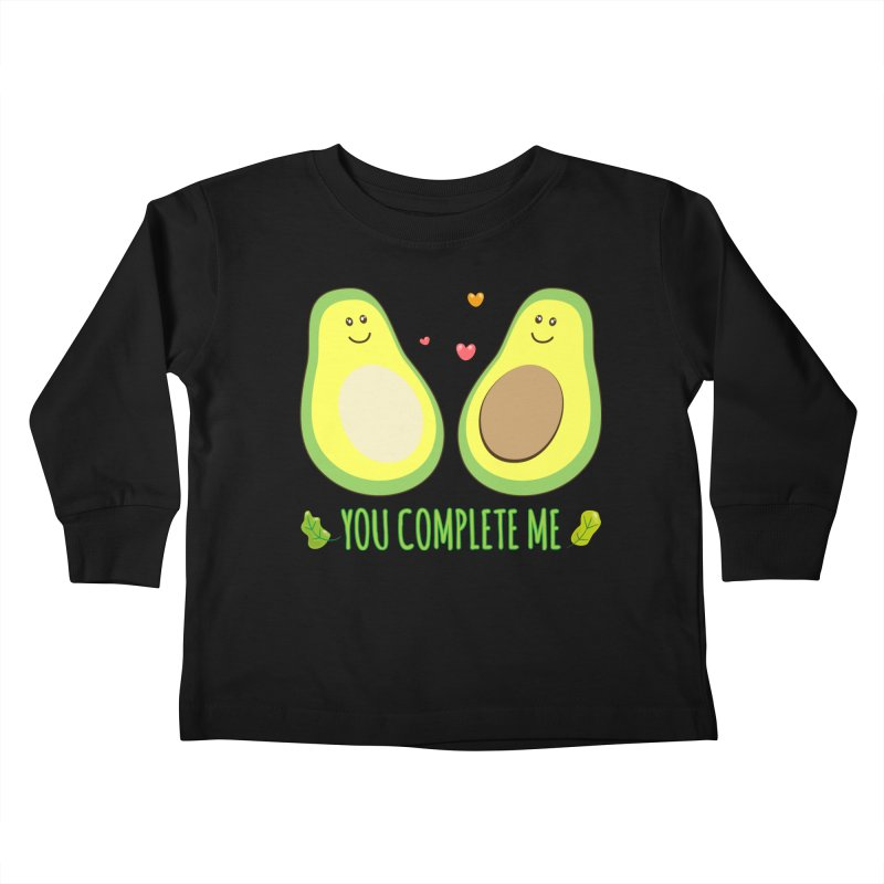 You Complete Me Kids Toddler Longsleeve T-Shirt by WaWaTees Shop