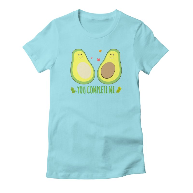 You Complete Me Women's Fitted T-Shirt by WaWaTees Shop