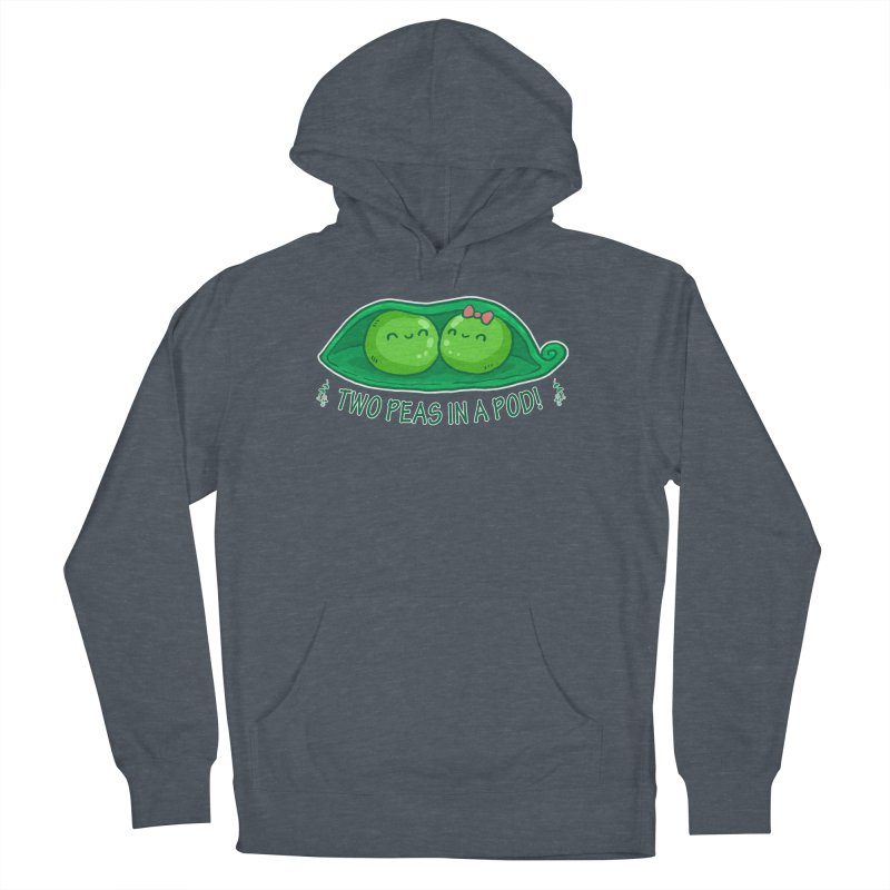 Two Peas in a Pod! 2 Men's French Terry Pullover Hoody by WaWaTees Shop