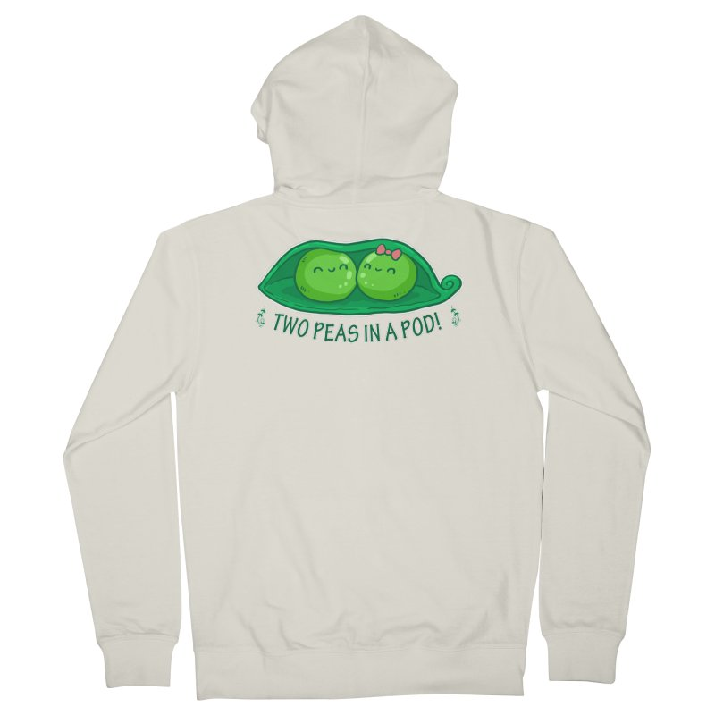 Two Peas in a Pod! 2 Men's French Terry Zip-Up Hoody by WaWaTees Shop