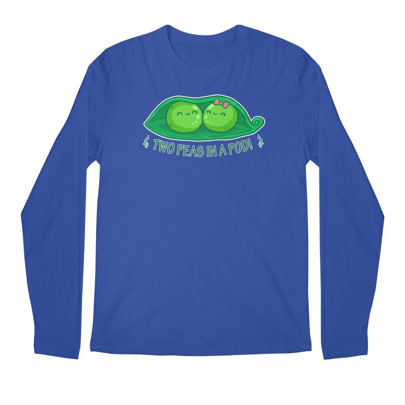 Two Peas in a Pod! 2 Men's Longsleeve T-Shirt by WaWaTees Shop