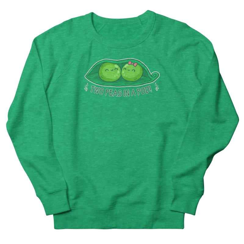 Two Peas in a Pod! 2 Men's French Terry Sweatshirt by WaWaTees Shop