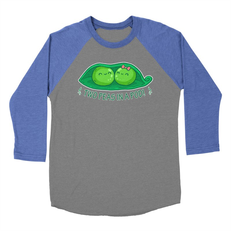 Two Peas in a Pod! 2 Women's Baseball Triblend T-Shirt by WaWaTees Shop
