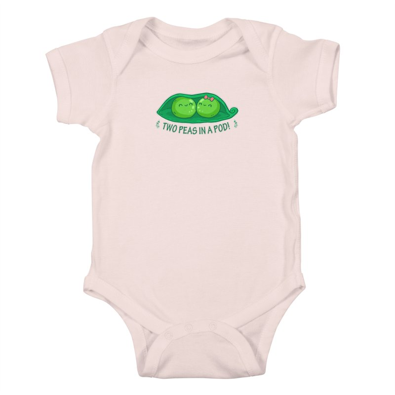 Two Peas in a Pod! 2 Kids Baby Bodysuit by WaWaTees Shop