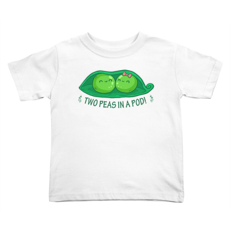 Two Peas in a Pod! 2 Kids Toddler T-Shirt by WaWaTees Shop