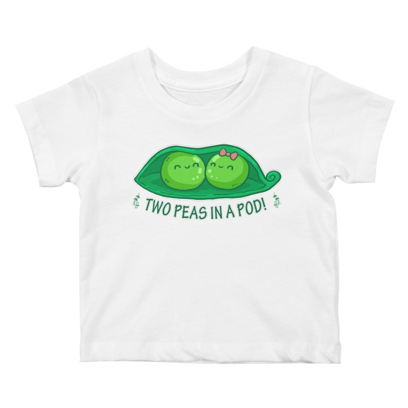 Two Peas in a Pod! 2 Kids Baby T-Shirt by WaWaTees Shop