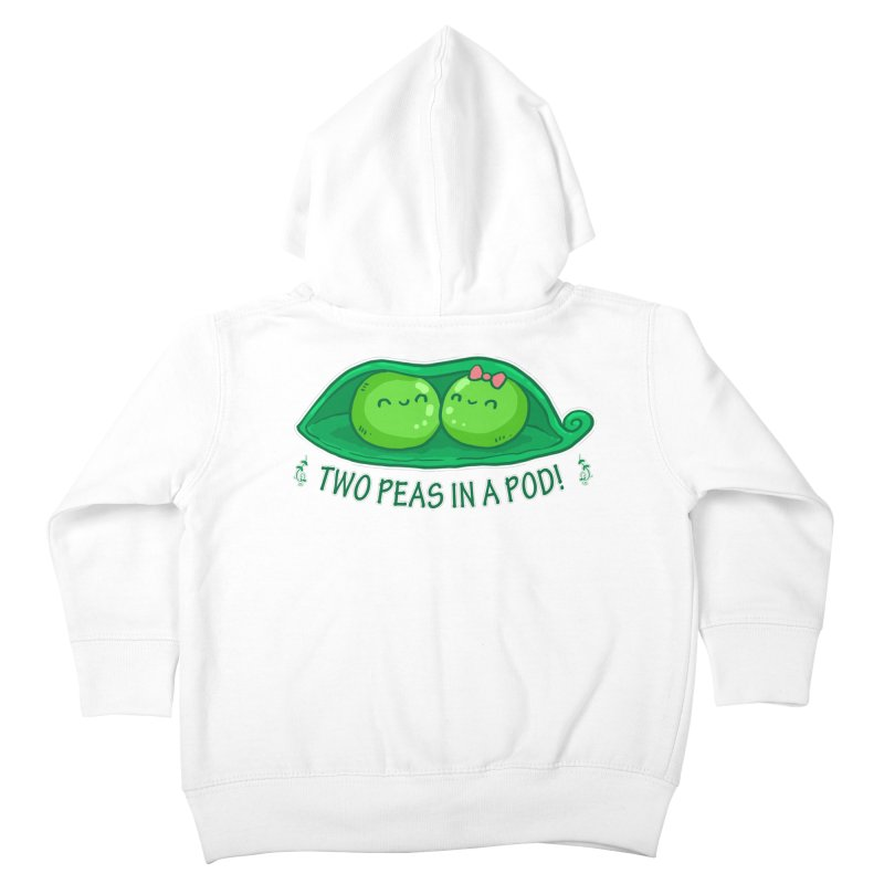 Two Peas in a Pod! 2 Kids Toddler Zip-Up Hoody by WaWaTees Shop