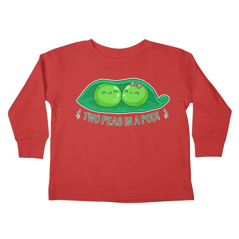Two Peas in a Pod! 2 Kids Toddler Longsleeve T-Shirt by WaWaTees Shop