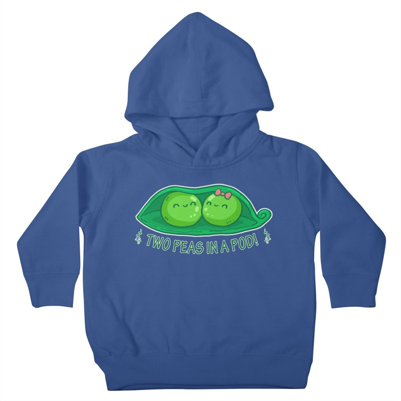 Two Peas in a Pod! 2 Kids Toddler Pullover Hoody by WaWaTees Shop