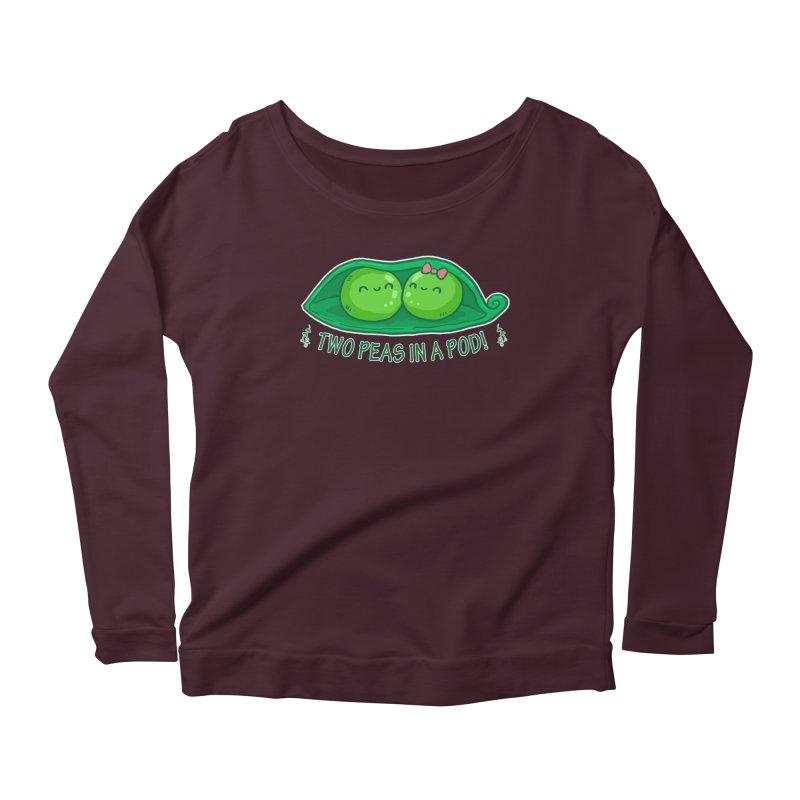 Two Peas in a Pod! 2 Women's Scoop Neck Longsleeve T-Shirt by WaWaTees Shop