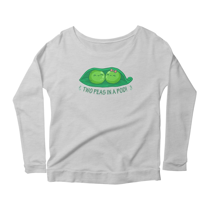 Two Peas in a Pod! 2 Women's Longsleeve Scoopneck  by WaWaTees Shop