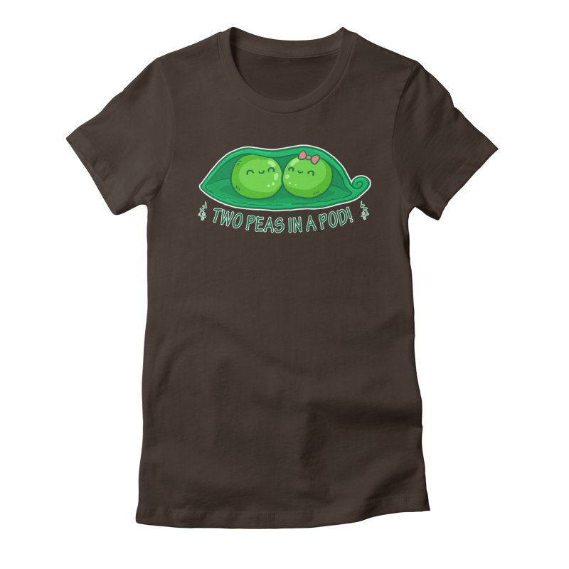 Two Peas in a Pod! 2 Women's Fitted T-Shirt by WaWaTees Shop