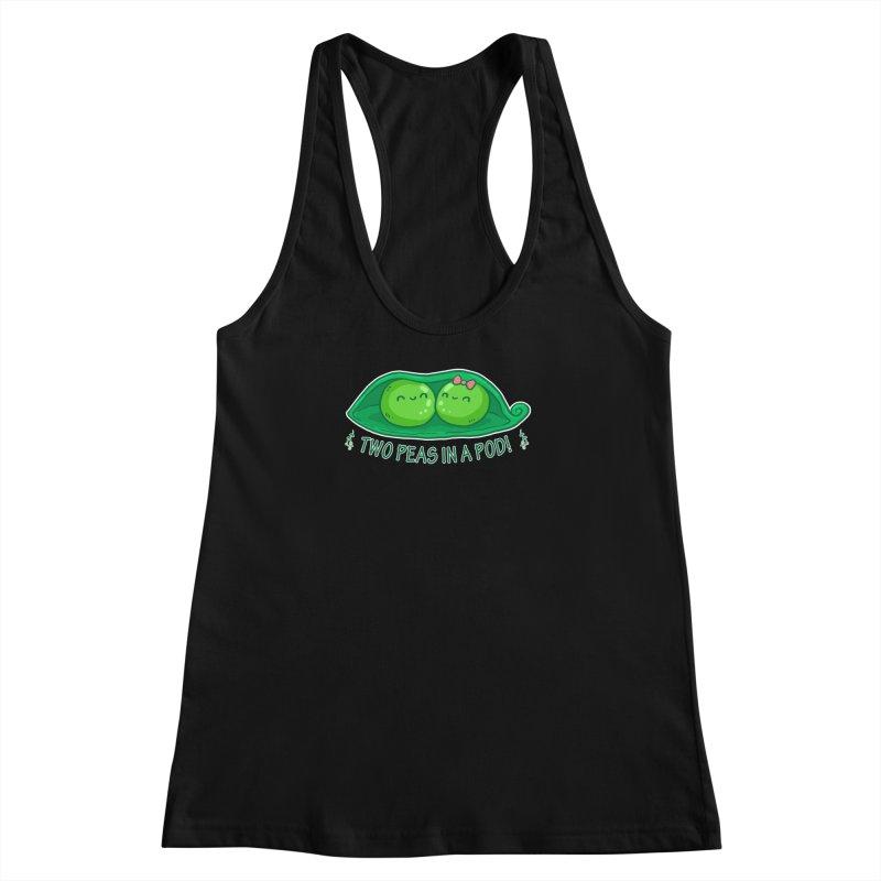 Two Peas in a Pod! 2 Women's Racerback Tank by WaWaTees Shop