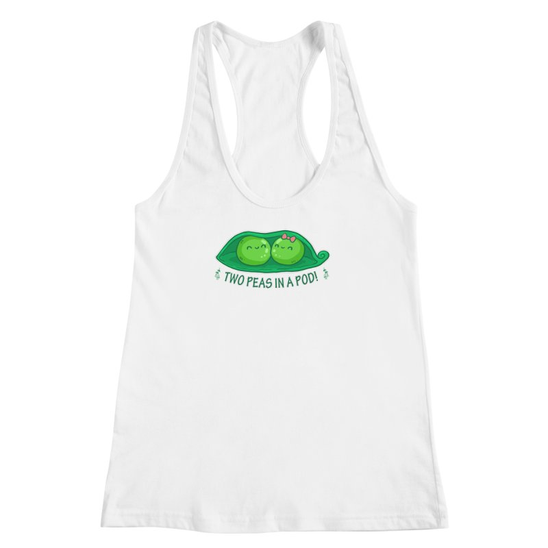 Two Peas in a Pod! 2 Women's Racerback Tank by WaWaTees Shop