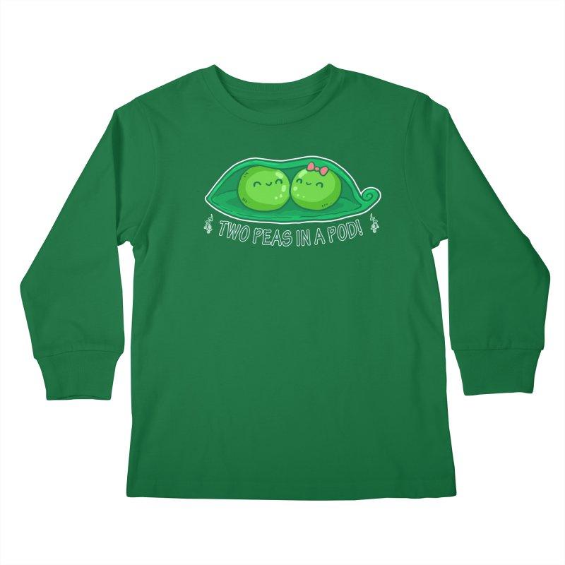 Two Peas in a Pod! 2 Kids Longsleeve T-Shirt by WaWaTees Shop