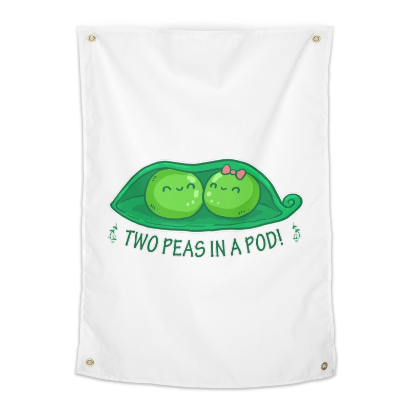Two Peas in a Pod! 2 Home Tapestry by WaWaTees Shop