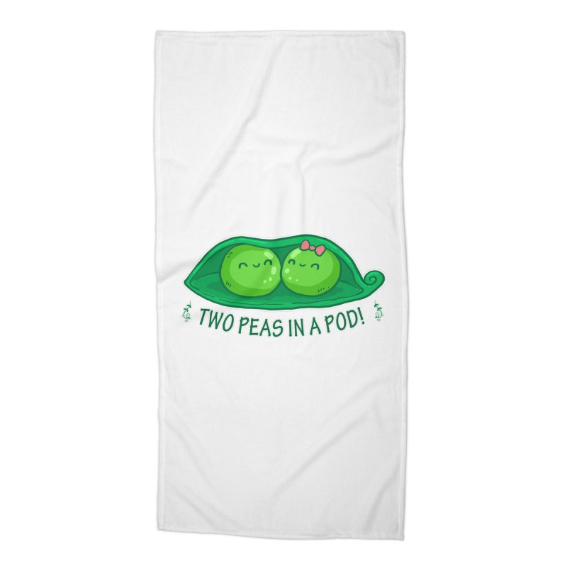Two Peas in a Pod! 2 Accessories Beach Towel by WaWaTees Shop