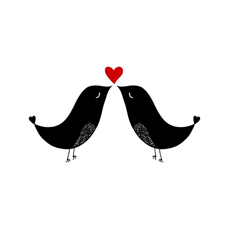 Love Birds 2 None  by WaWaTees Shop