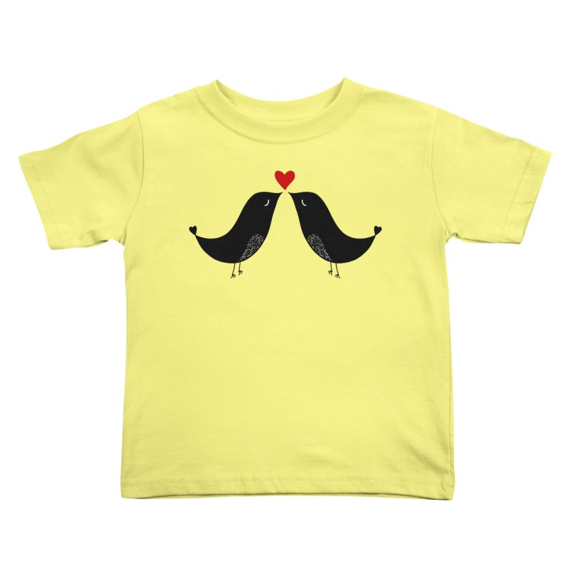 Love Birds 2 Kids Toddler T-Shirt by WaWaTees Shop