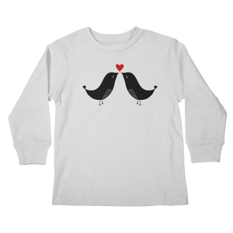 Love Birds 2 Kids Longsleeve T-Shirt by WaWaTees Shop